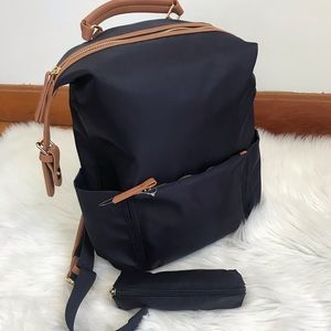Tommy Bahama navy blue backpack/ pencil case